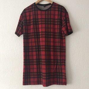 Men's Plaid T-Shirt